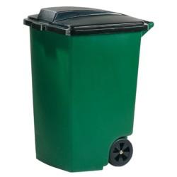 Atkritumu tvertne uz riteņiem 100L zaļa/melna