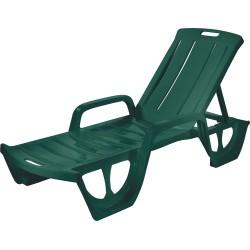 Sauļošanās krēsls Florida tumši zaļš