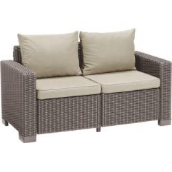 Dārza dīvāns divvietīgs California 2 Seater Sofa bēšs