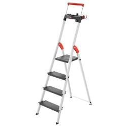 Kāpnes mājsaimniecības L100 TopLine / alumīnija / 4 pakāpieni