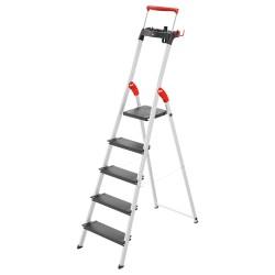 Kāpnes mājsaimniecības L100 TopLine / alumīnija / 5 pakāpieni