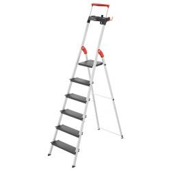Kāpnes mājsaimniecības L100 TopLine / alumīnija / 6 pakāpieni