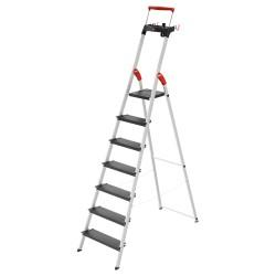 Kāpnes mājsaimniecības L100 TopLine / alumīnija / 7 pakāpieni