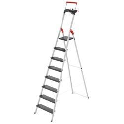 Kāpnes mājsaimniecības L100 TopLine / alumīnija / 8 pakāpieni