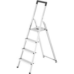 Kāpnes mājsaimniecības Selekta L40 BasicLine / alumīnija / 4 pakāpieni