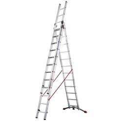 Kāpnes kombinējamās ProfiLOT / alumīnija / 3x12 pakāpieni