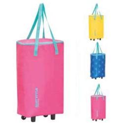 Termiskā soma uz riteņiem Easy Style Bag-Trolley asorti, dzeltena/zila/rozā