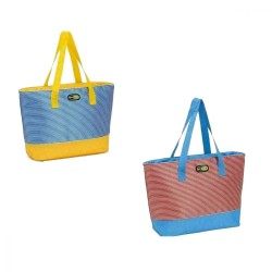 Termiskā soma Beach Tote asorti, sarkana-zila/zila-dzeltena