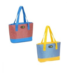 Termiskā soma Beach Small asorti, sarkana-zila/zila-dzeltena