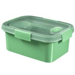 Pārtikas trauks Lunch Kit taisnstūris 1,2L Smart To Go maigi zaļš