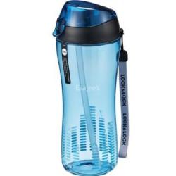 Pudele Sports ar silikona salmiņu 550ml zila