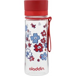 Pudele Aveo Water Bottle 0,35L sarkana (grafika)