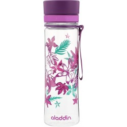 Pudele Aveo Water Bottle 0,6L violeta (grafika)