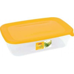 Pārtikas trauciņš taisnstūris 2L Fresh&Go dzeltens