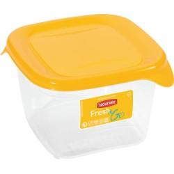 Pārtikas trauciņš kvadrāts 0,45L Fresh&Go dzeltens