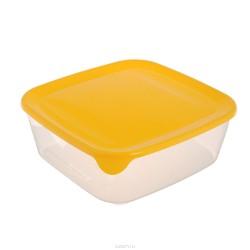 Pārtikas trauciņš kvadrāts 0,8L Fresh&Go dzeltens