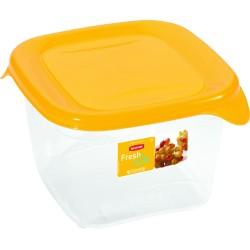 Pārtikas trauciņš kvadrāts 1,2L Fresh&Go dzeltens