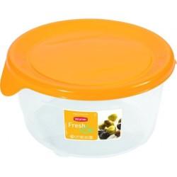 Pārtikas trauciņš apaļš 0,5L Fresh&Go dzeltens